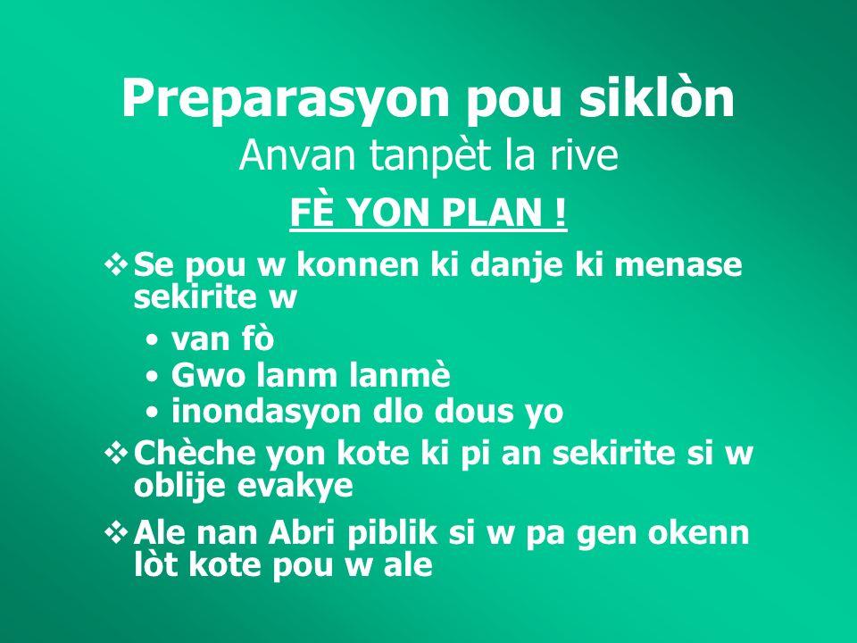 FÈ YON PLAN .