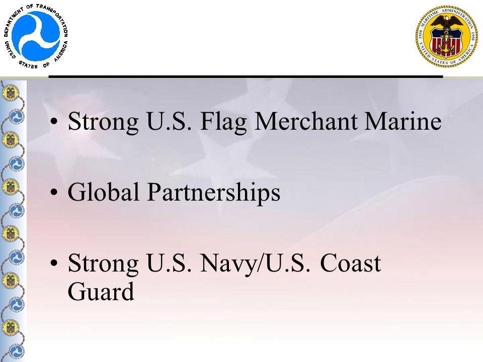 Strong U.S. Flag Merchant Marine Global Partnerships Strong U.S. Navy/U.S. Coast Guard