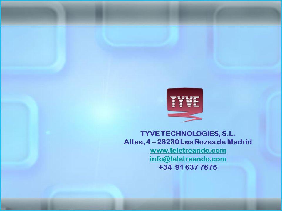 TYVE TECHNOLOGIES, S.L.
