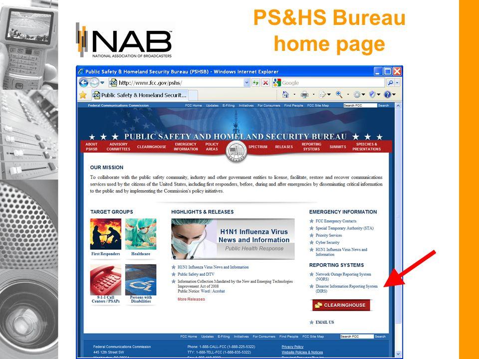 PS&HS Bureau home page