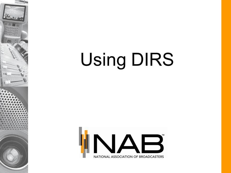 Using DIRS