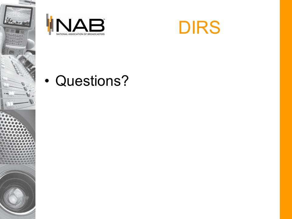 DIRS Questions