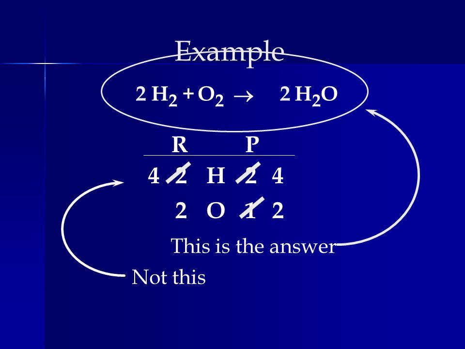 Examples AgNO 3 + Cu Cu(NO 3 ) 2 + Ag AgNO 3 + Cu Cu(NO 3 ) 2 + Ag Mg + N 2 Mg 3 N 2 Mg + N 2 Mg 3 N 2 P + O 2 P 4 O 10 P + O 2 P 4 O 10 Na + H 2 O H 2 + NaOH Na + H 2 O H 2 + NaOH CH 4 + O 2 CO 2 + H 2 O CH 4 + O 2 CO 2 + H 2 O