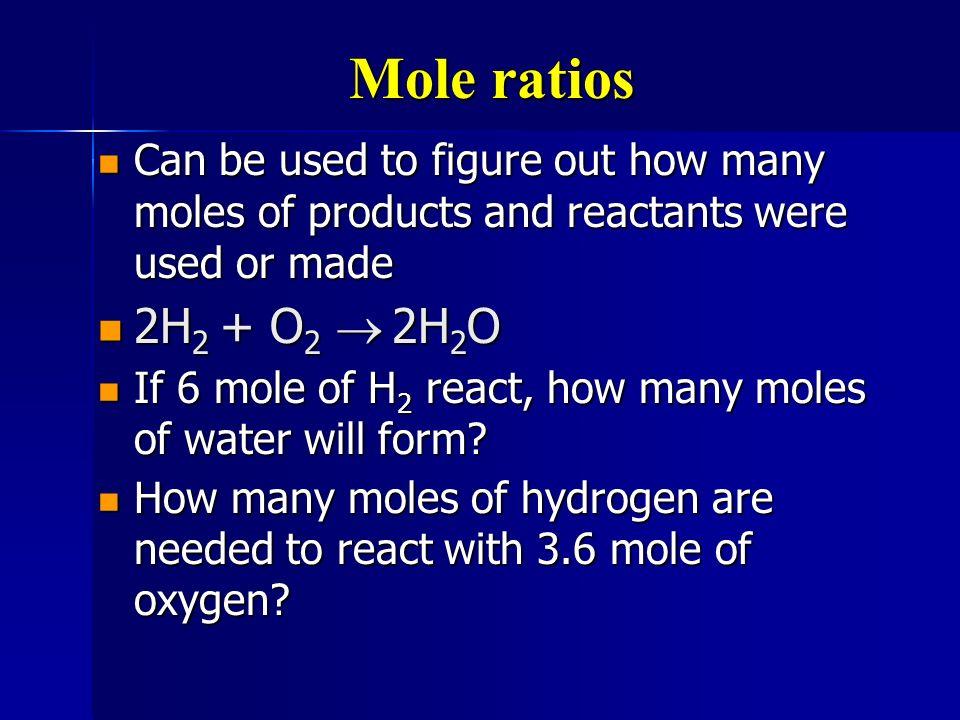 Mole to mole conversions 2 Al 2 O 3 Al + 3O 2 2 Al 2 O 3 Al + 3O 2 every time we use 2 moles of Al 2 O 3 we make 3 moles of O 2 every time we use 2 moles of Al 2 O 3 we make 3 moles of O 2 2 moles Al 2 O 3 3 mole O 2 or 2 moles Al 2 O 3 3 mole O 2