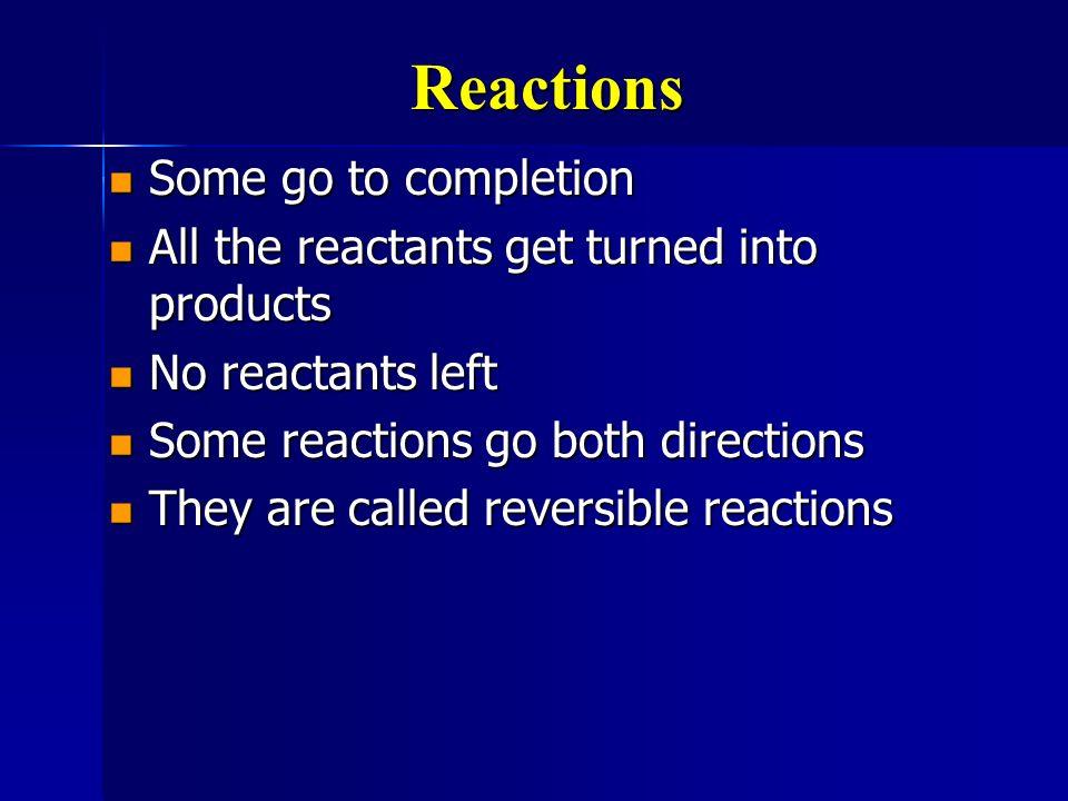 Reversible Reactions 2H 2 (g) + O 2 (g) 2H 2 O(g) + energy 2H 2 (g) + O 2 (g) 2H 2 O(g) + energy 2H 2 O(g) + energy H 2 (g) + O 2 (g) 2H 2 O(g) + energy H 2 (g) + O 2 (g) 2H 2 (g) + O 2 (g) 2H 2 O(g) + energy 2H 2 (g) + O 2 (g) 2H 2 O(g) + energy