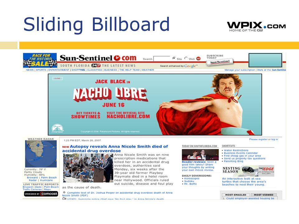 Sliding Billboard