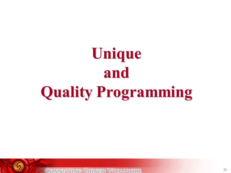 25 Uniqueand Quality Programming
