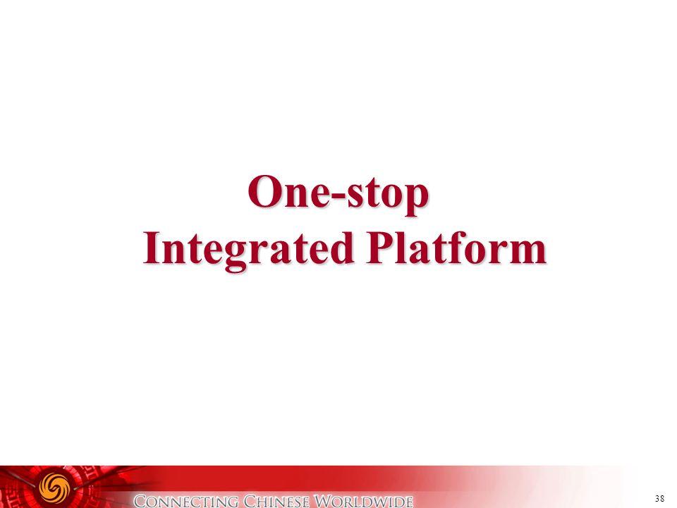 38 One-stop Integrated Platform Integrated Platform