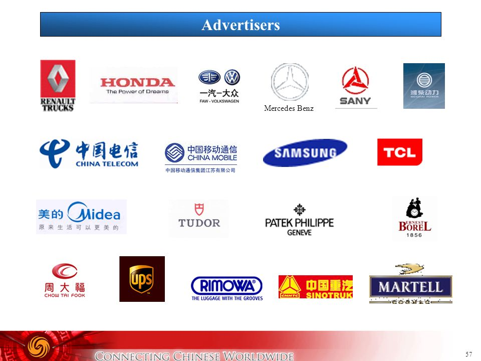57 Advertisers Mercedes Benz