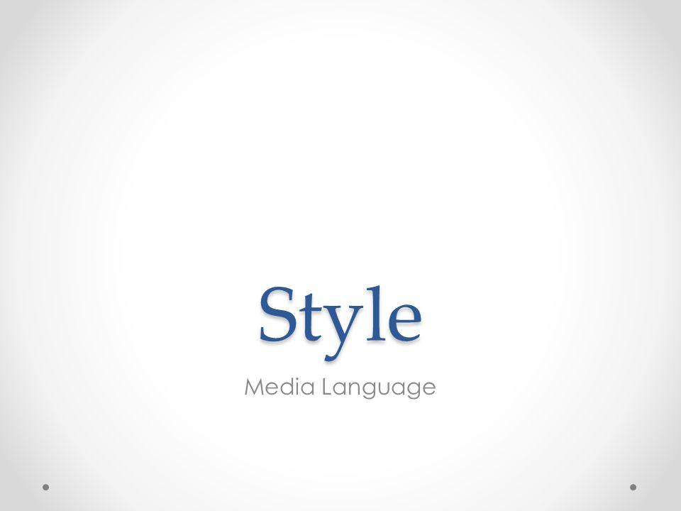 Style Media Language