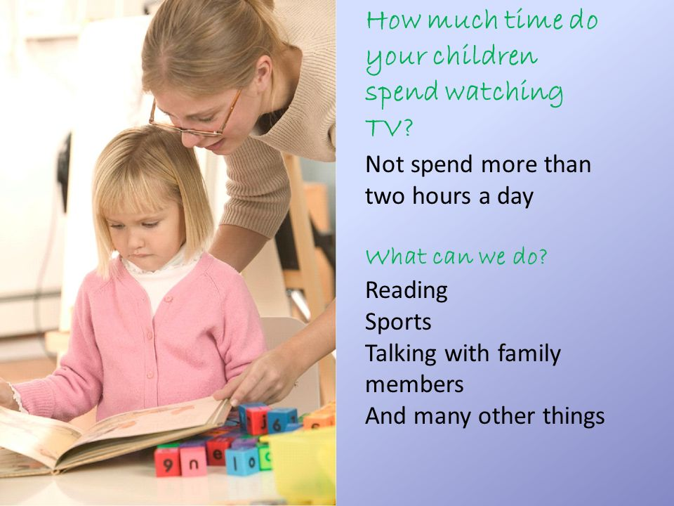 How much time do your children spend watching TV.