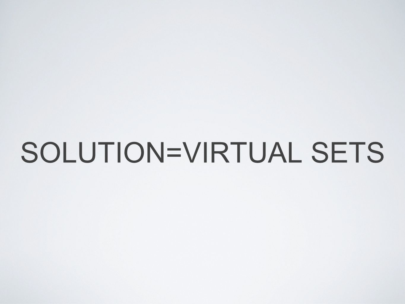 SOLUTION=VIRTUAL SETS