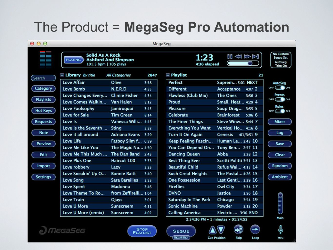 The Product = MegaSeg Pro Automation