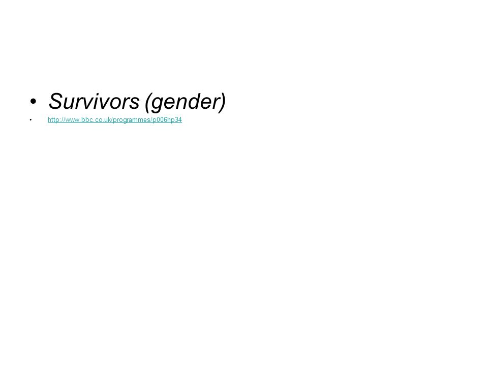 Survivors (gender)