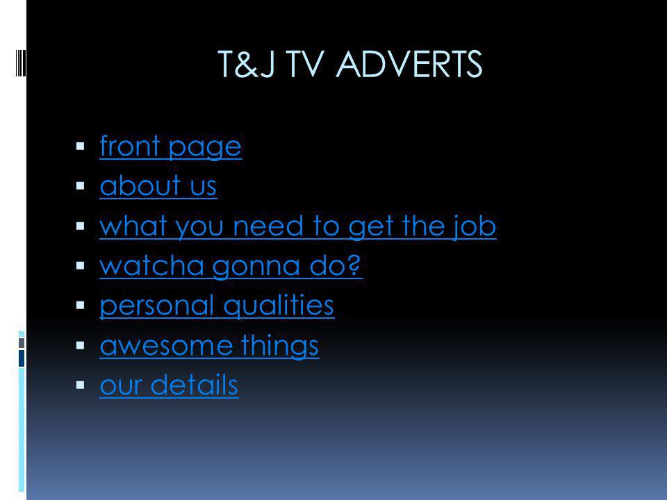 about us we are advertising directors that are looking for new employees.