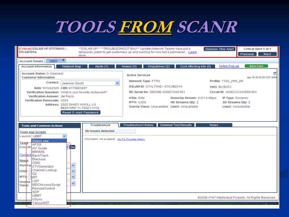 TOOLS FROM SCANR FROM
