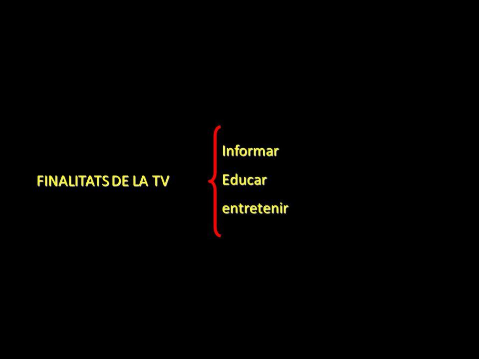 FINALITATS DE LA TV InformarEducarentretenir