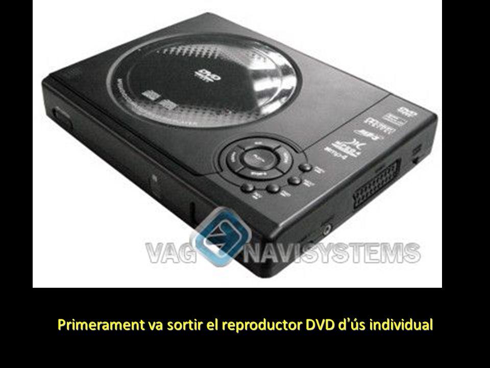 Primerament va sortir el reproductor DVD d ús individual
