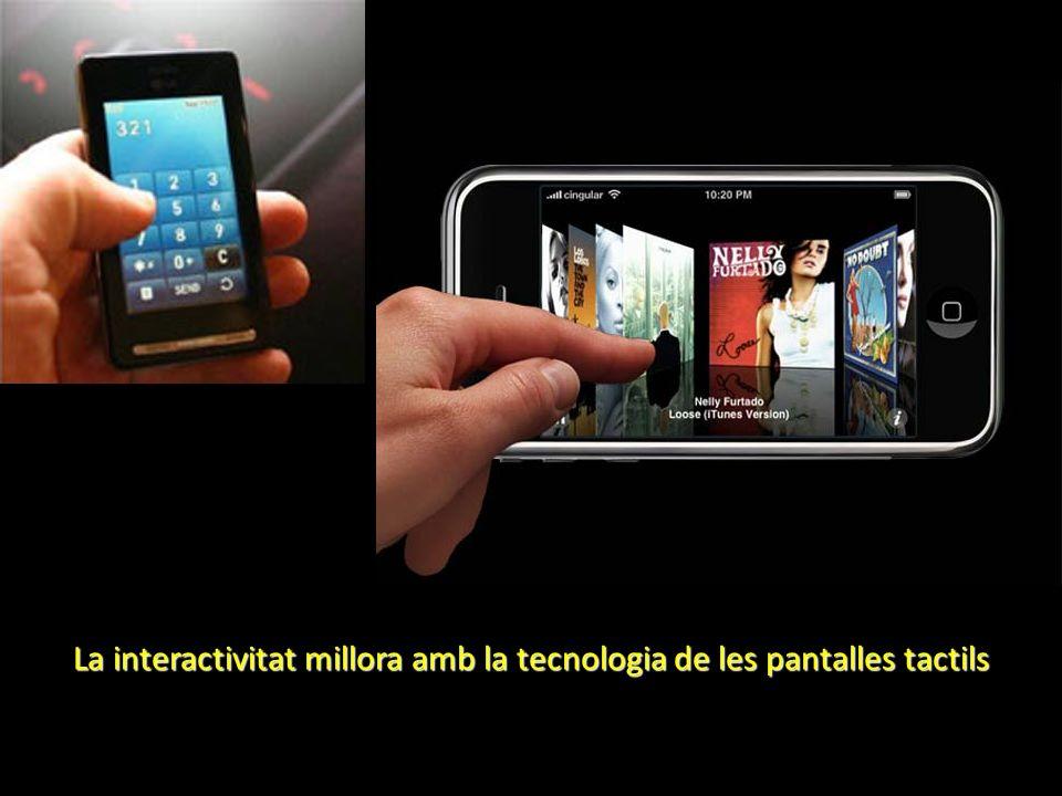 La interactivitat millora amb la tecnologia de les pantalles tactils