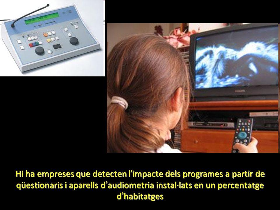 Hi ha empreses que detecten l impacte dels programes a partir de qüestionaris i aparells d audiometria instal·lats en un percentatge d habitatges