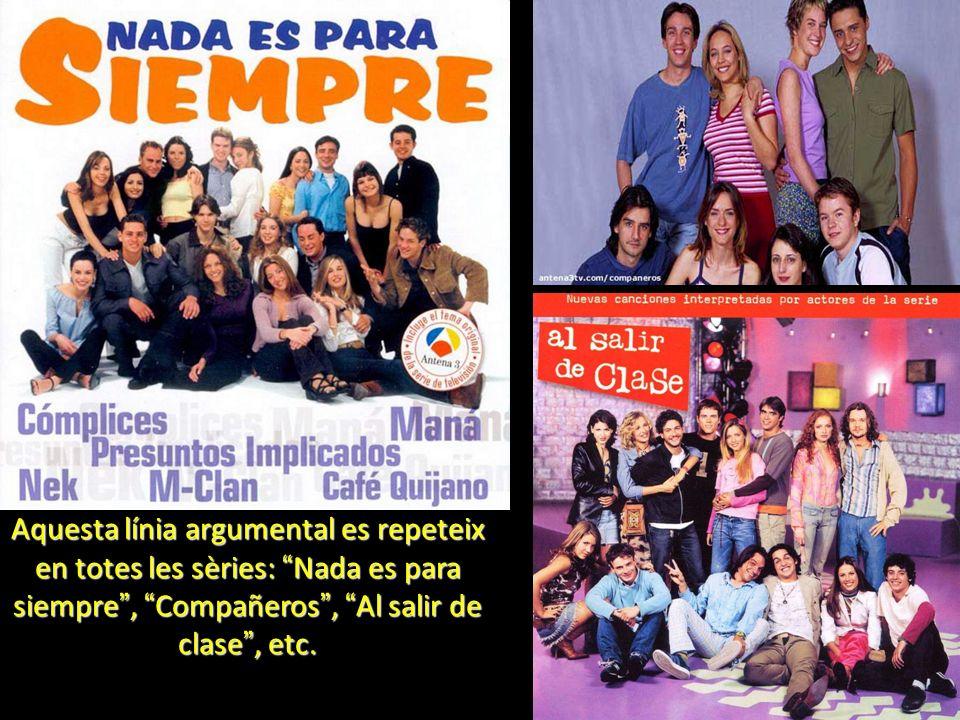 Aquesta línia argumental es repeteix en totes les sèries: Nada es para siempre, Compañeros, Al salir de clase, etc.