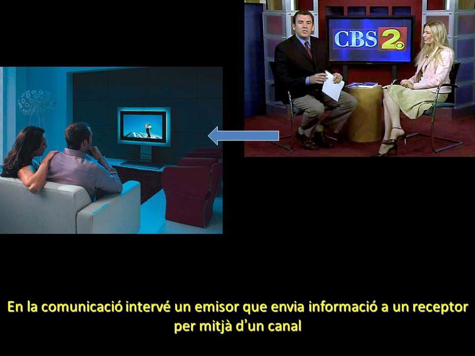 En la comunicació intervé un emisor que envia informació a un receptor per mitjà dun canal