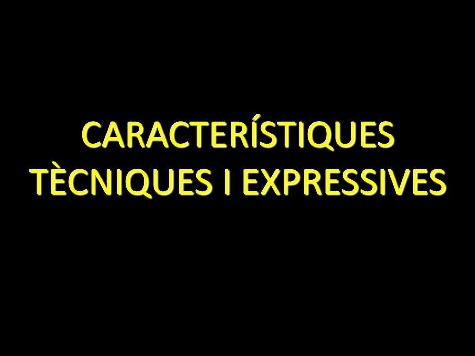 CARACTERÍSTIQUES TÈCNIQUES I EXPRESSIVES