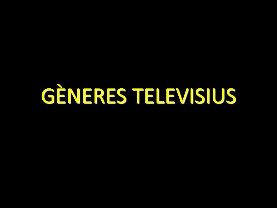 GÈNERES TELEVISIUS