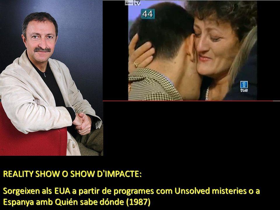 REALITY SHOW O SHOW D IMPACTE: Sorgeixen als EUA a partir de programes com Unsolved misteries o a Espanya amb Quién sabe dónde (1987)