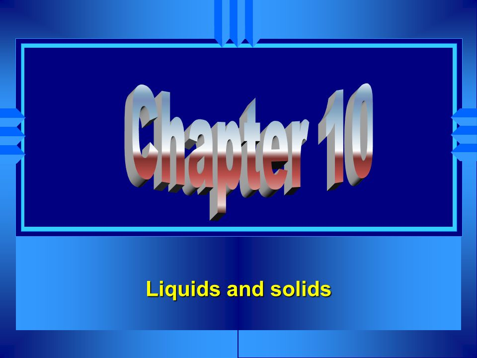 Solid Water Liquid Water Water Vapor Vapor u While the molecules condense to a solid.