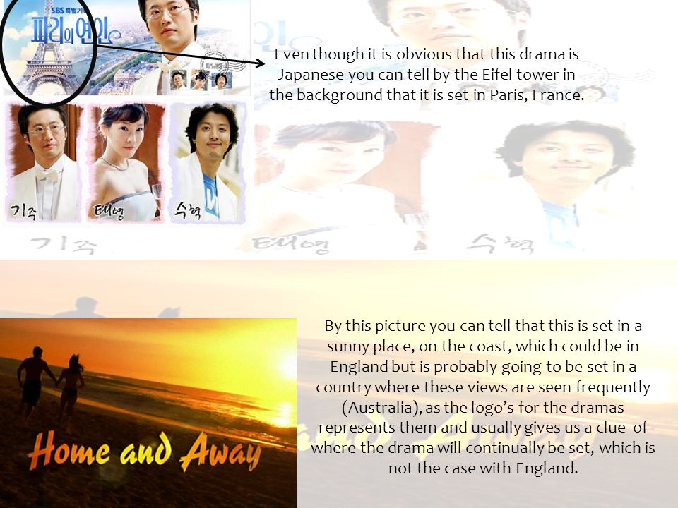 Even though it is obvious that this drama is Japanese you can tell by the Eifel tower in the background that it is set in Paris, France. By this pictu