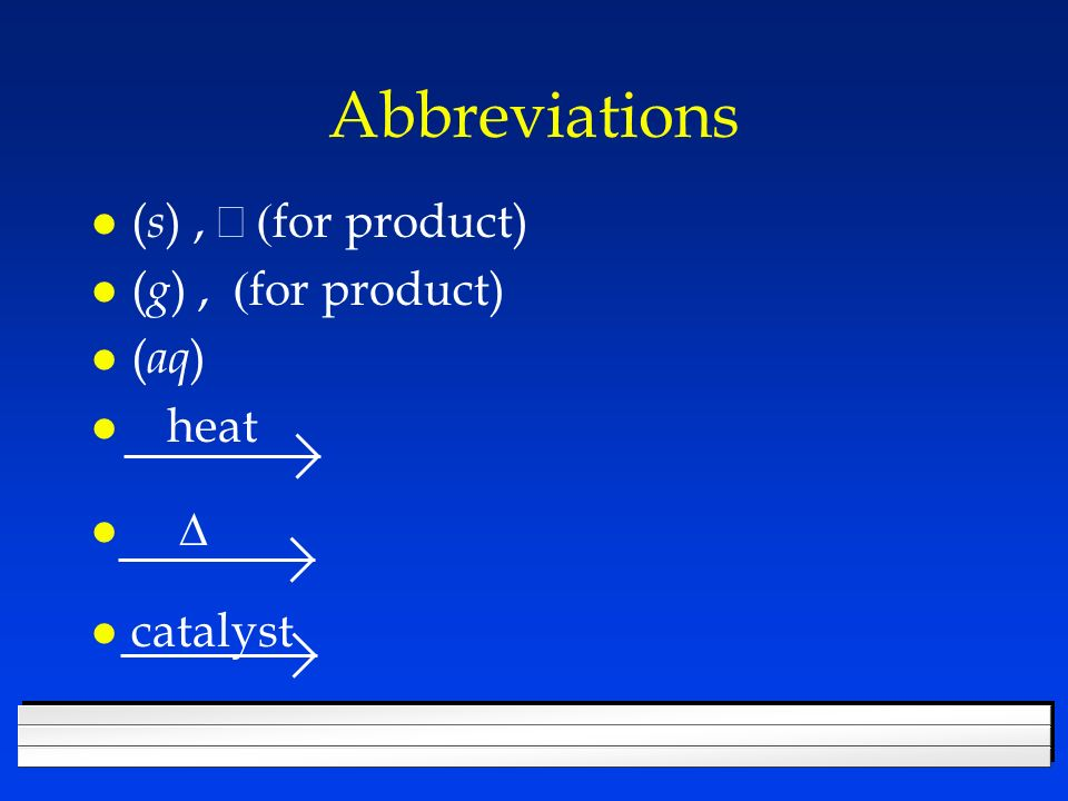 Balancing equations CH 4 + 2O 2 CO 2 + 2 H 2 O ReactantsProducts C11 O23 H424 4 4