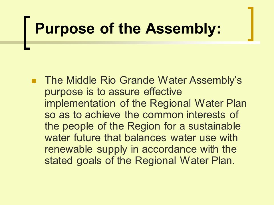 Goals for the Water Plan, cont.