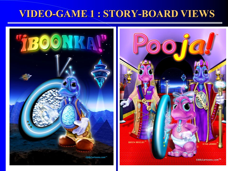 VIDEO-GAME 1 : STORY-BOARD VIEWS