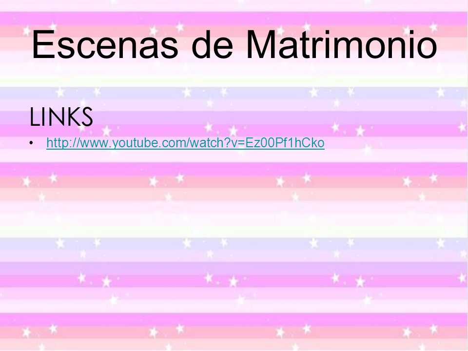 Escenas de Matrimonio LINKS http://www.youtube.com/watch?v=Ez00Pf1hCko