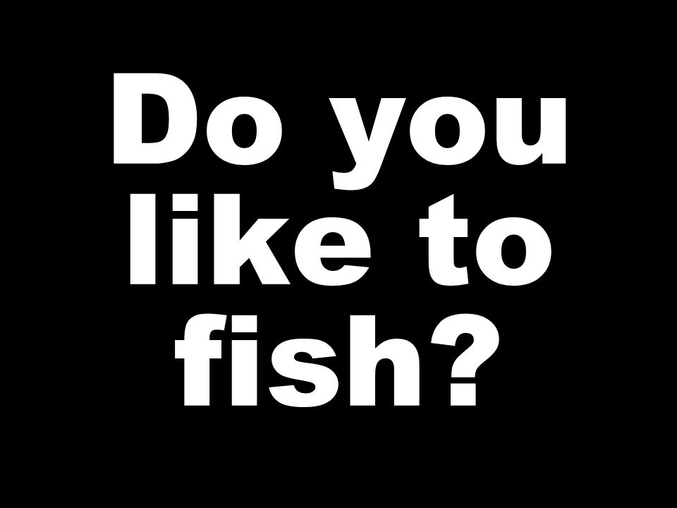 Do you like to fish
