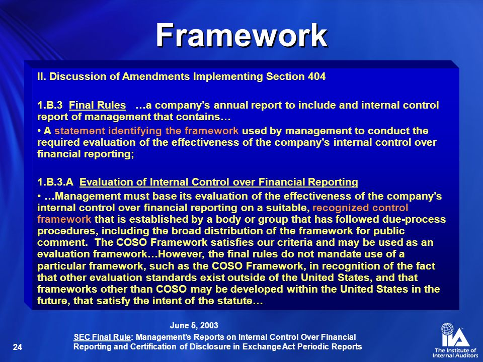 24 Framework II.