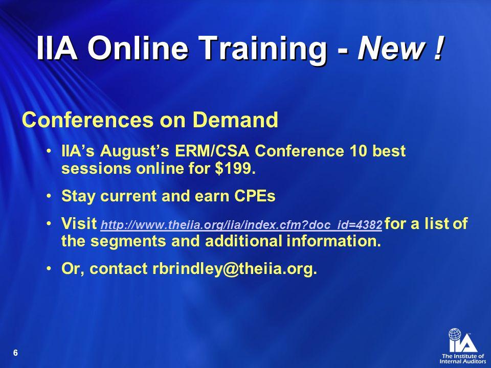 6 IIA Online Training - New .
