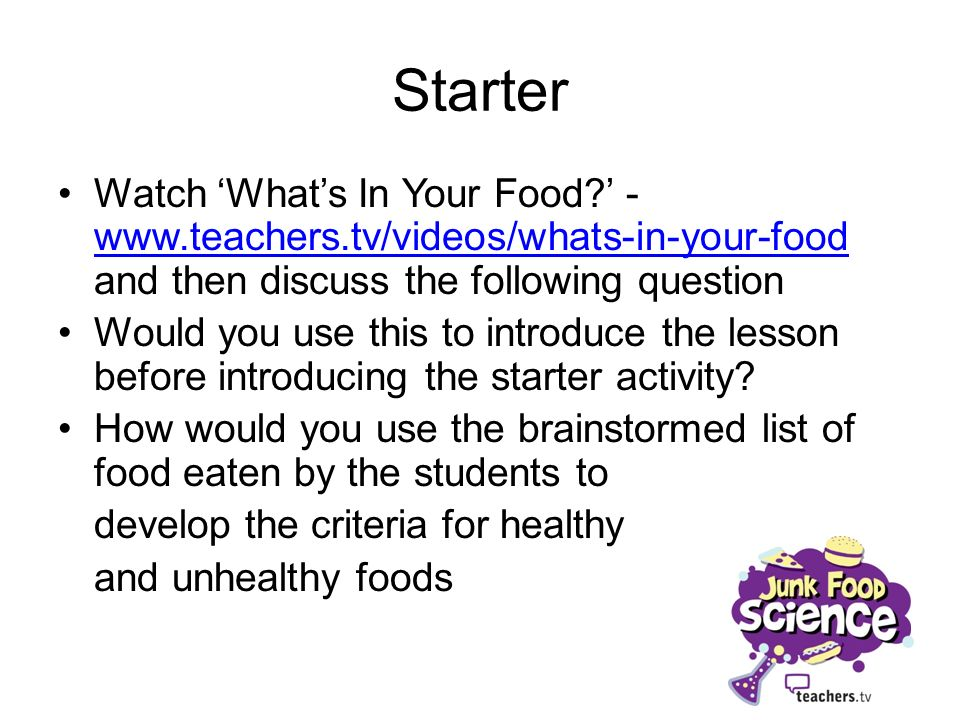 Starter Watch Whats In Your Food.