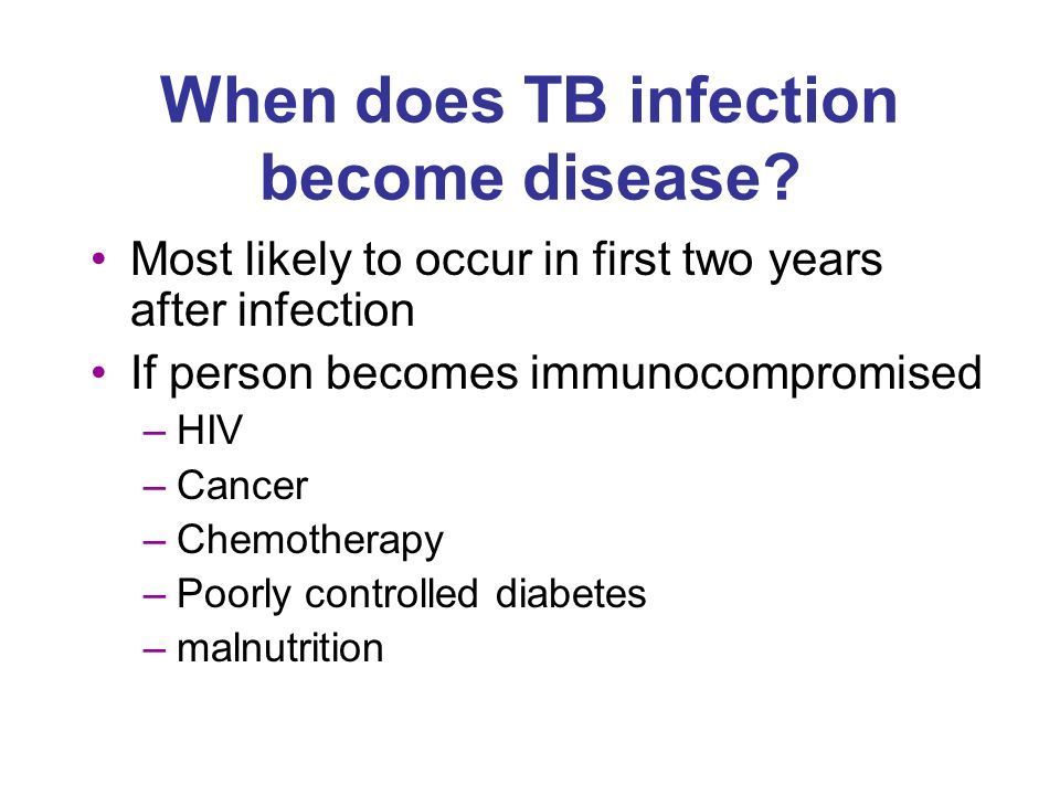 When does TB infection become disease.
