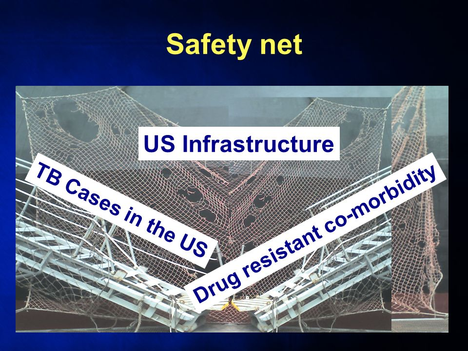 Safety net TB Cases in the US Drug resistant co-morbidity US Infrastructure