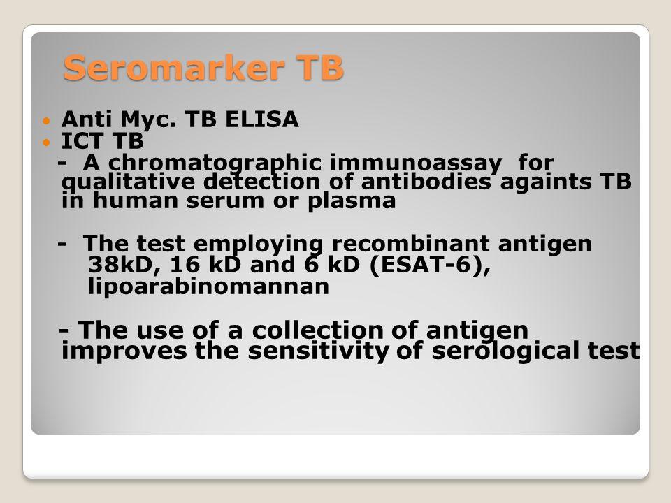 Seromarker TB Anti Myc. TB ELISA ICT TB - A chromatographic immunoassay for qualitative detection of antibodies againts TB in human serum or plasma -