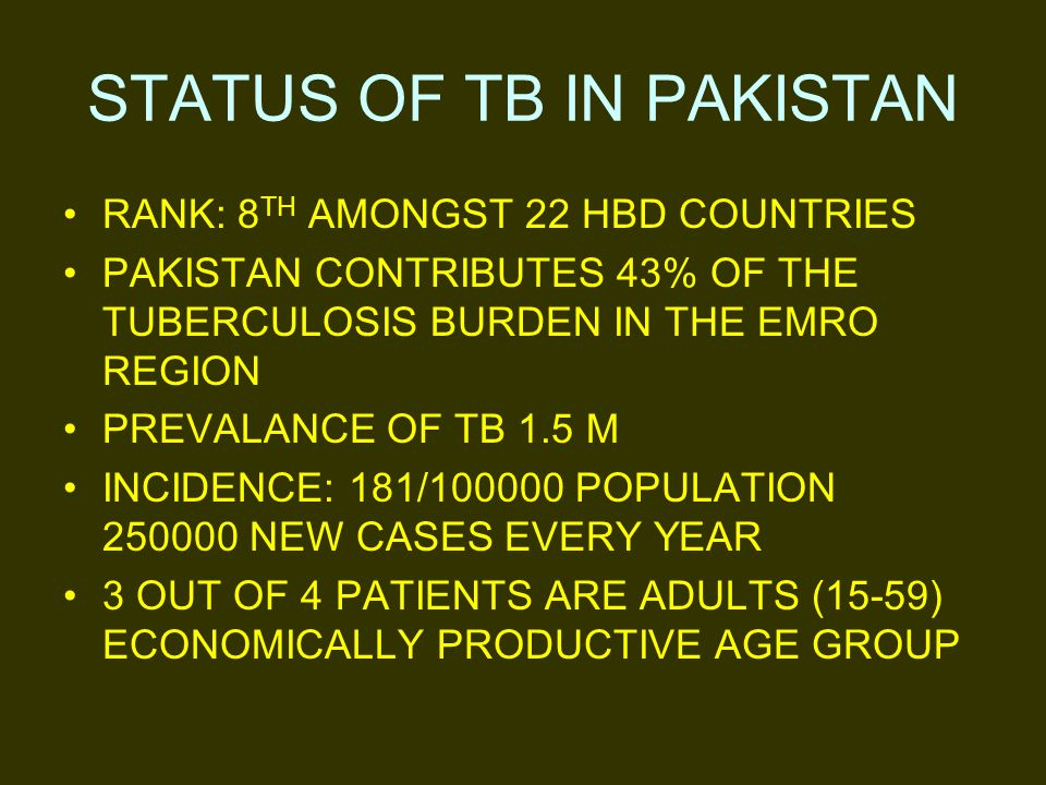 Punjab Accounts for > 50 % of disease burden in country I.E.1.5 million cases.