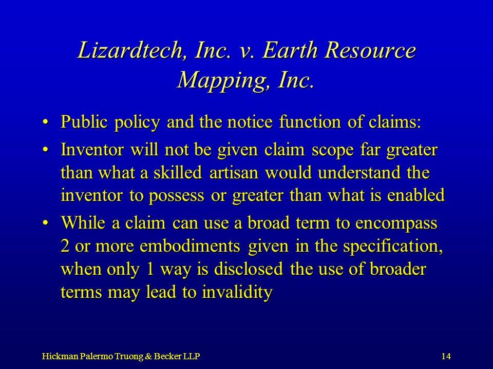 Hickman Palermo Truong & Becker LLP14 Lizardtech, Inc.