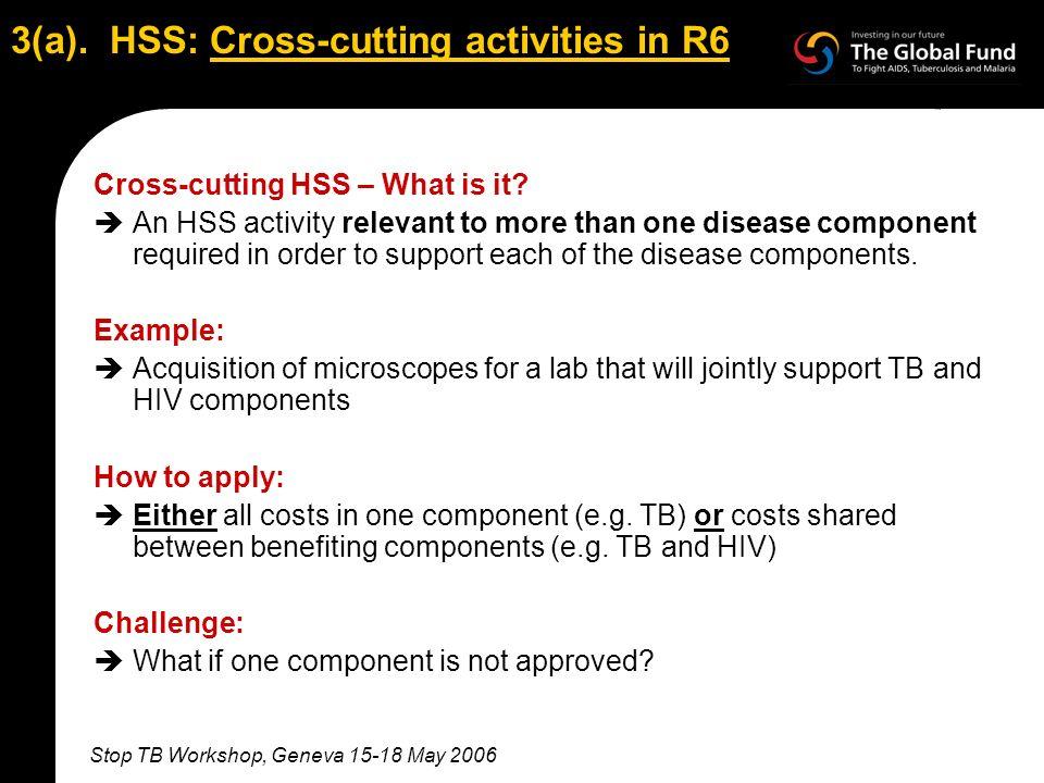 Stop TB Workshop, Geneva 15-18 May 2006 3(a).