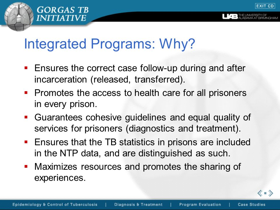 Integrated Programs: Why.
