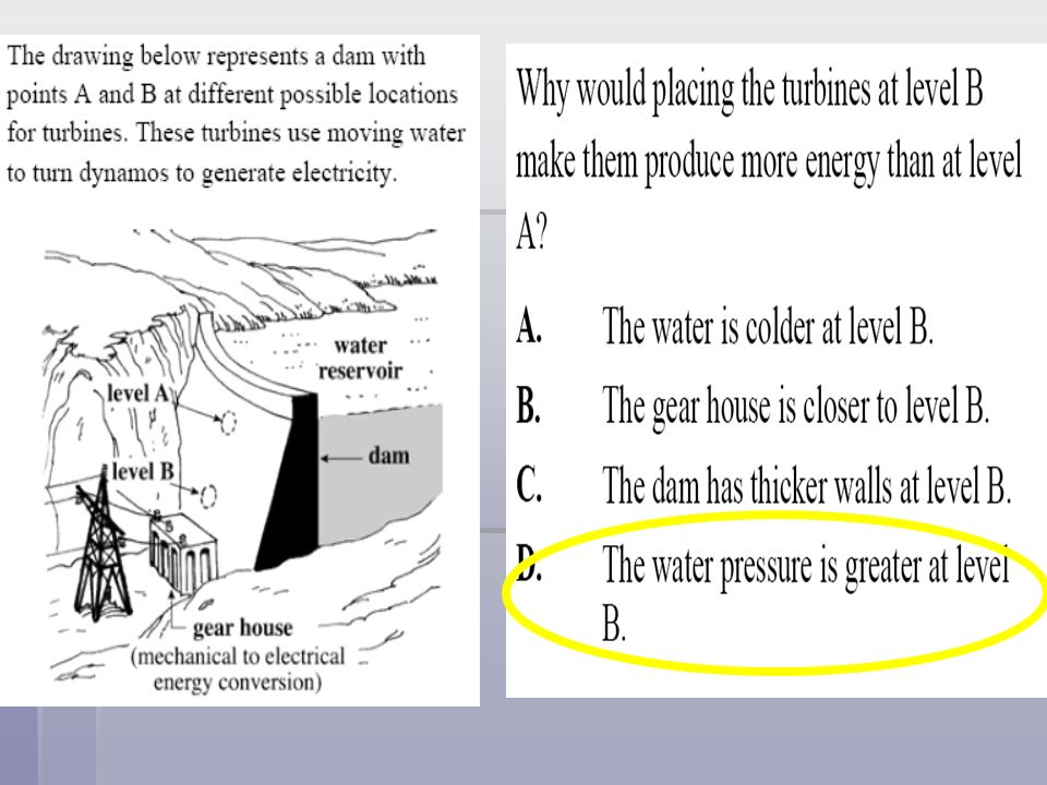 Which of these is an example of kinetic energy? A. A car parked in a garage A. A car parked in a garage B. A bike standing on the side of a school B.