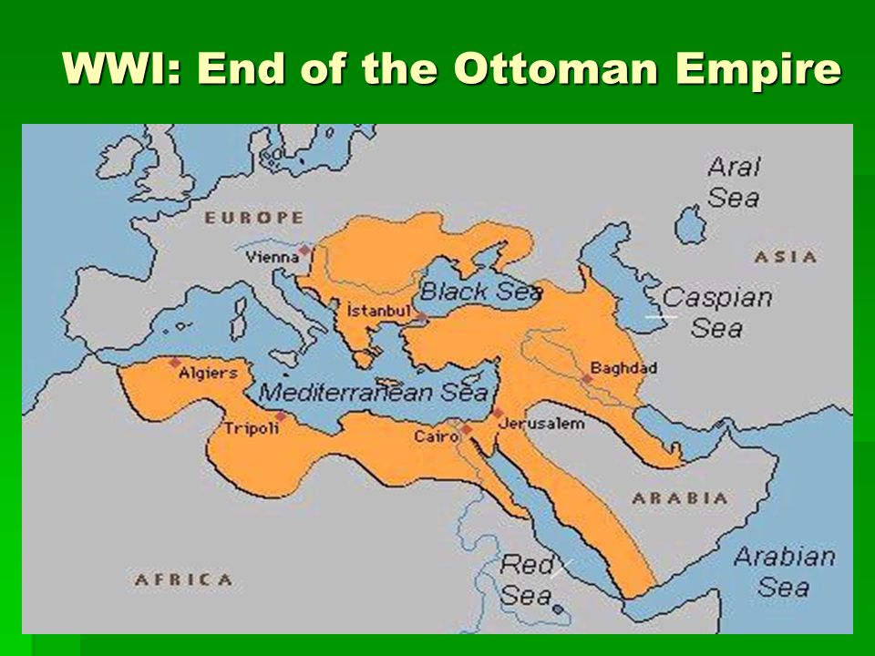 WWI: End of the Ottoman Empire