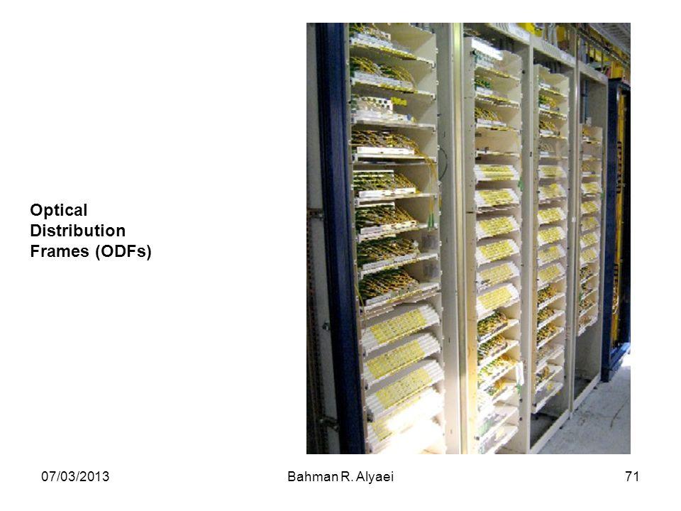 07/03/2013Bahman R. Alyaei71 Optical Distribution Frames (ODFs)