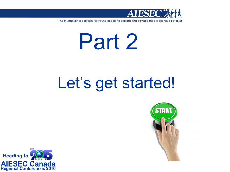 Part 2 Lets get started!